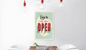 Plakat metalowy - Come in, we are open [Allplate]