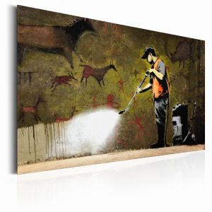 Plakat metalowy - Cave Painting by Banksy [Allplate]