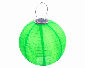 Lampion Solarny Ogrodowy 30cm Zewnętrzny Zielony Lampa Solarna Joylight