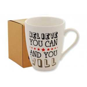 Kubek z napisane 300ml eko box belive you can and you will Tadar