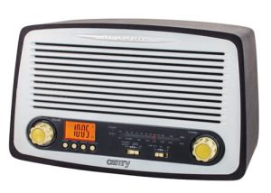 Radio retro, drewniane (USB/MP3/SD) Camry