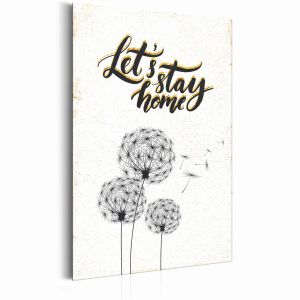 Plakat metalowy - Mój dom: Let's stay home [Allplate]
