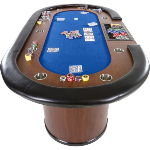 Stół do pokera XXL ROYAL FLUSH niebieski