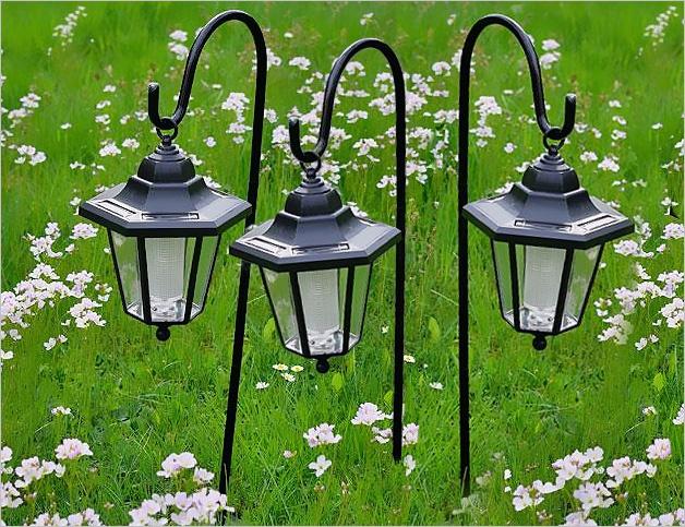Lampy Solarne Led 3 Sztuki W Kształcie Latarni Zestaw
