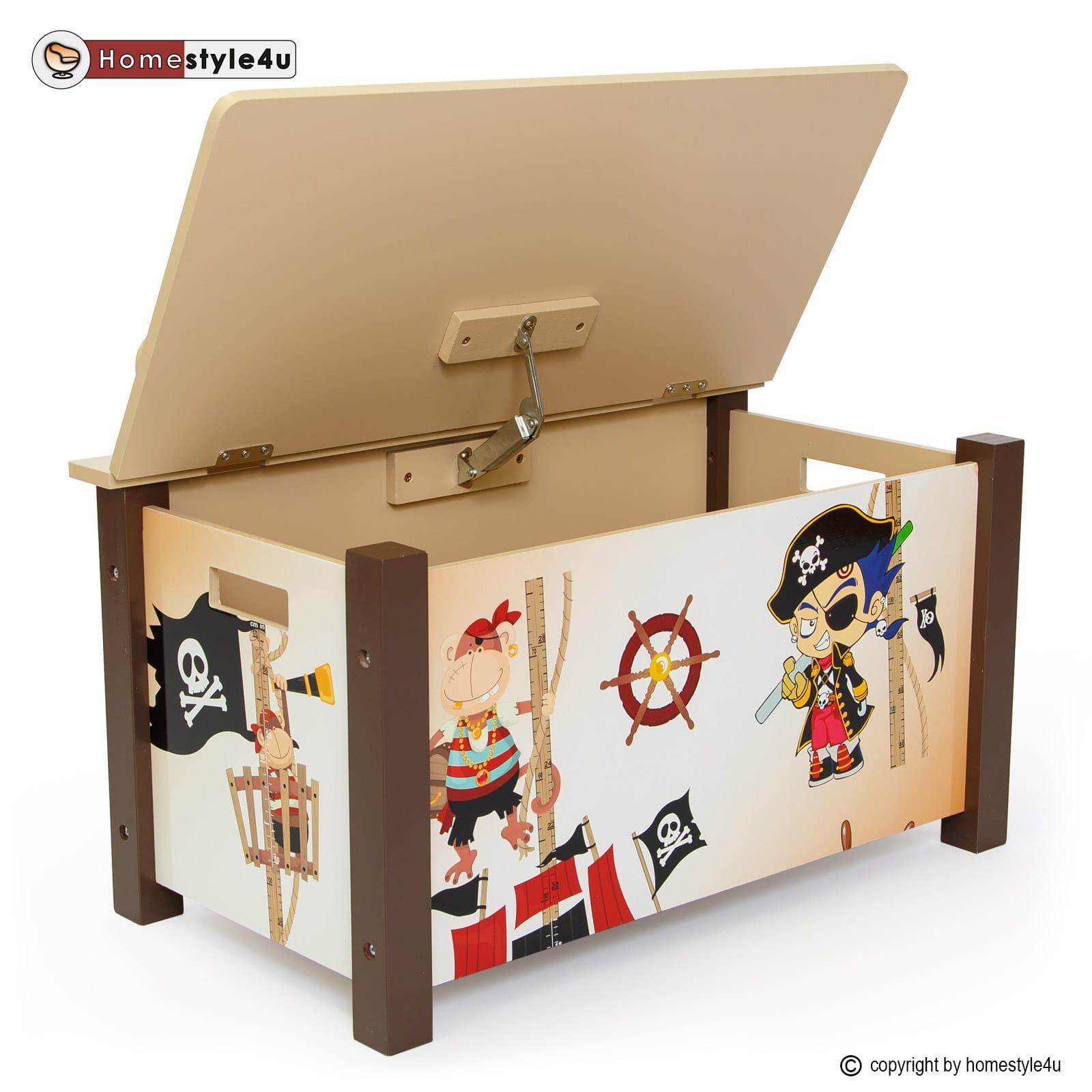 Skrzynia na zabawki pirat br zowa sklep internetowy for Holzkiste kinderzimmer