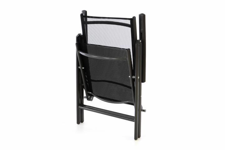 Krzesło Ogrodowe Składane 4szt Leżak Regulowany Na Taras