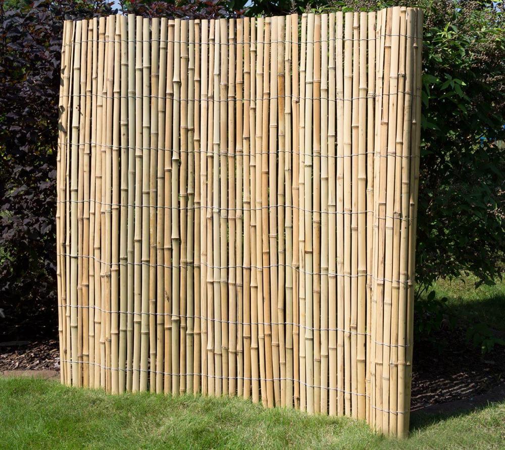 Ogrodzenie Bambusowe 200 X 200 Cm Parawan Ogrodowy Mata Bambusowa