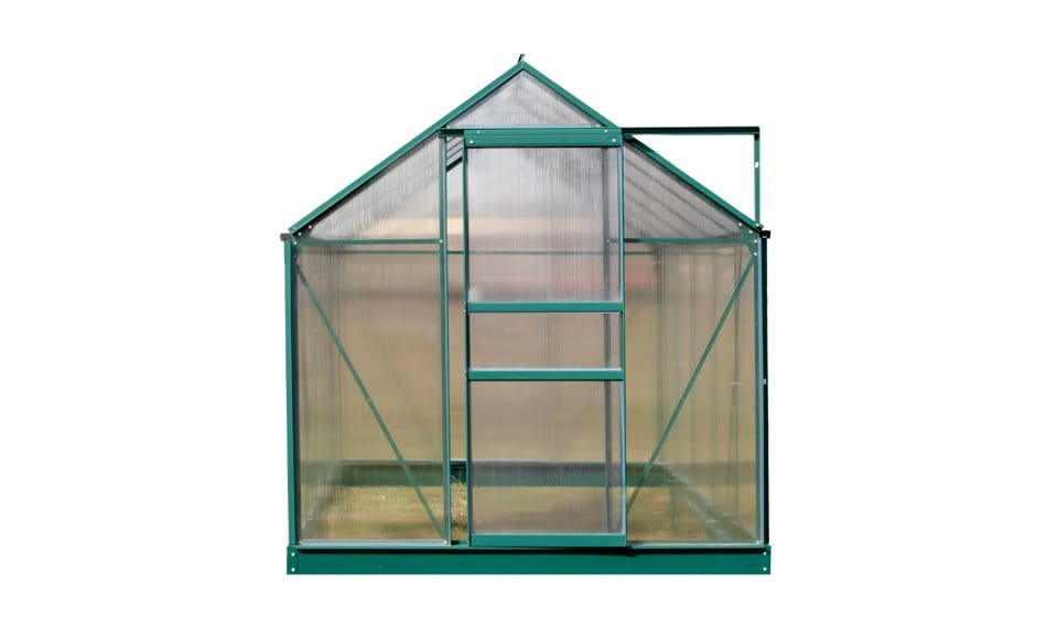 Szklarnia Ogrodowa Aluminiowa Poliwęglan 62m² Fundament Kolor Zielony