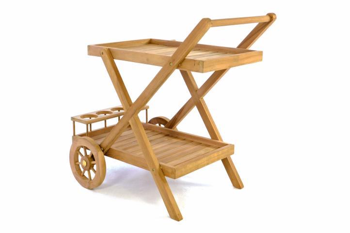 Cudowna Stolik drewniany barek na kółkach wózek do serwowania potraw DW81