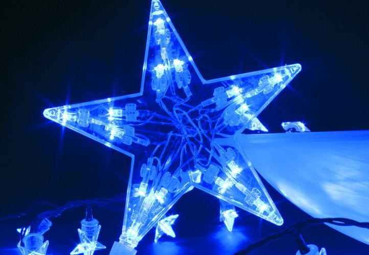 Lampki świąteczne 100 Led Niebieskie Gwiazdki