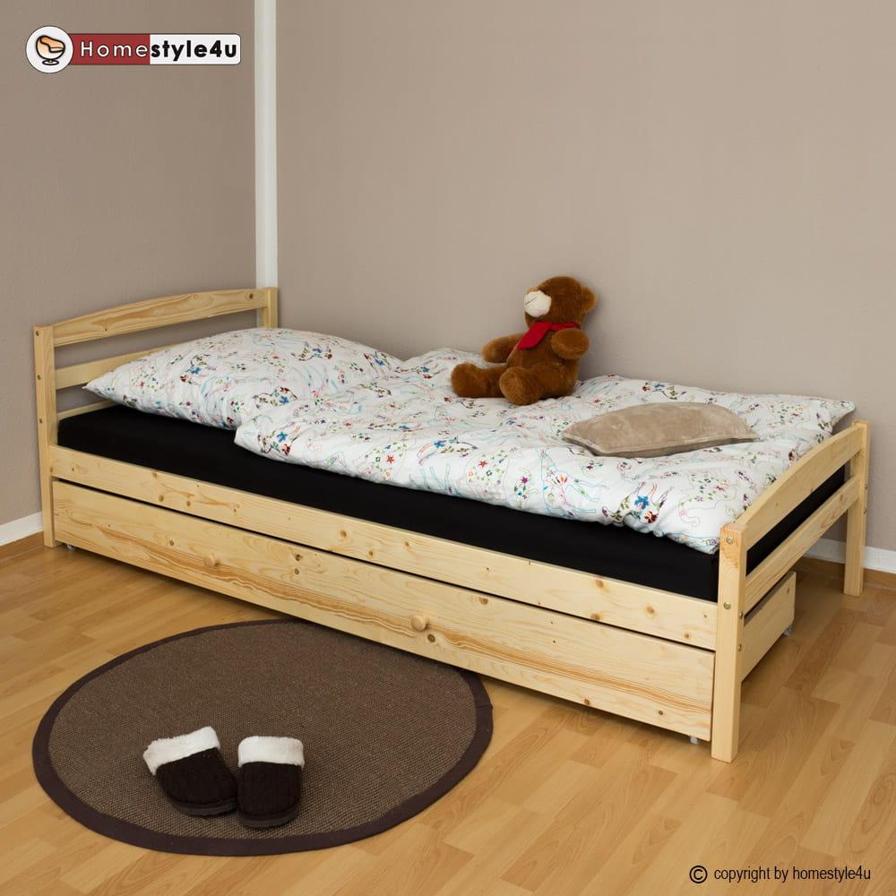 łóżko Młodzieżowe 90x200 Cm Rozkładane Sosna