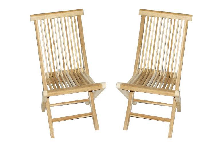 Inne rodzaje Krzesła zestaw 2 szt. składane krzesło ogrodowe z drewna tekowego KG34