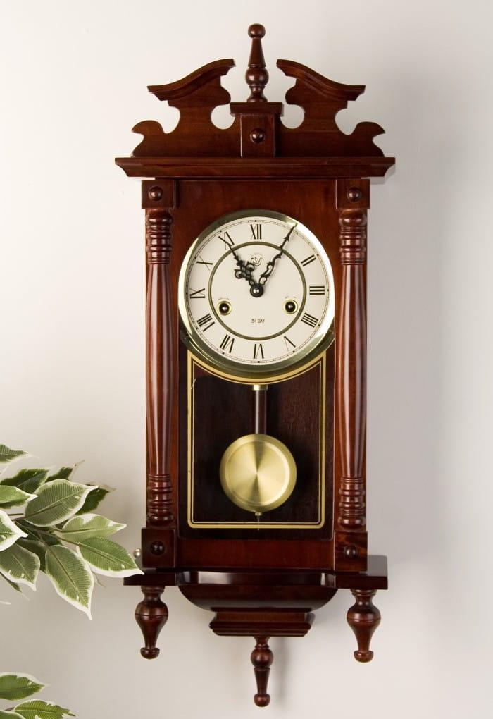 Zegar ścienny Orfeusz 73cm Drewniany Z Wahadłem