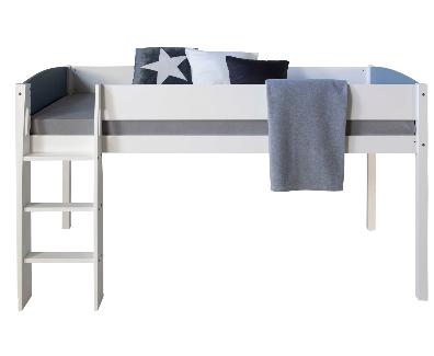 łóżko Sosnowe Dziecięce W Kolorze Białym Na Antresoli 200 X 90 Cm