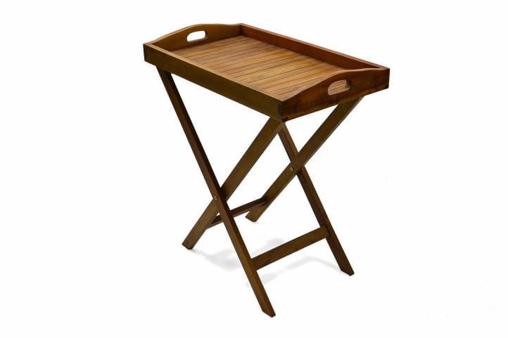 Składany Drewniany Stolik Ogrodowy Tarasowy Stolik Taca 2w1