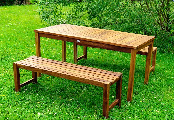 Meble Ogrodowe Z Drewna Akacjowego Opinie :  ogrodowych, stół + 2 ławki z drewna akacjowego  sklep TwojPasazpl