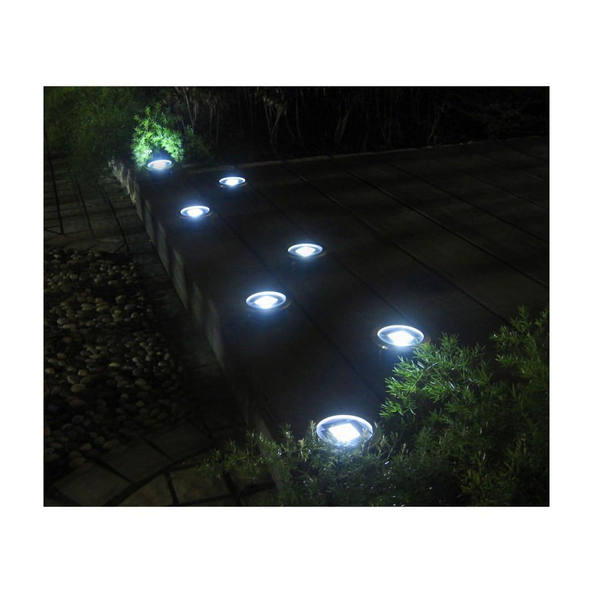 Lampy Solarne Led Stalowe Naziemne Zestaw 4 Sztuk