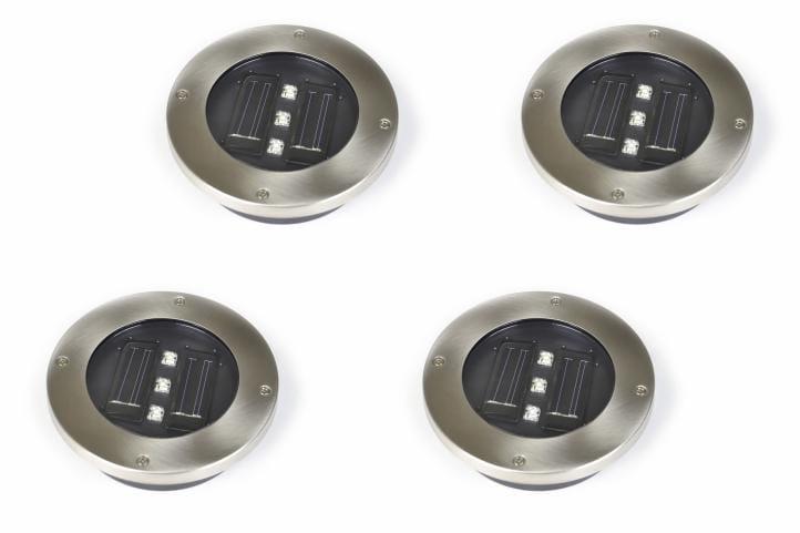 Lampy Solarne Najazdowe 4 Sztuki Stalowe