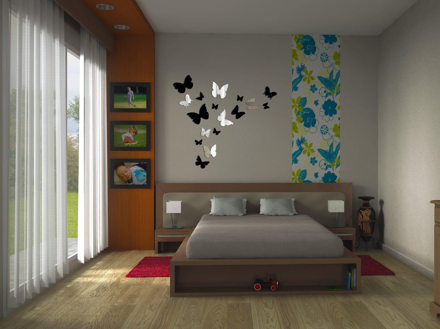 Lustrzane Motylki Na ścianę 3d Motylki3