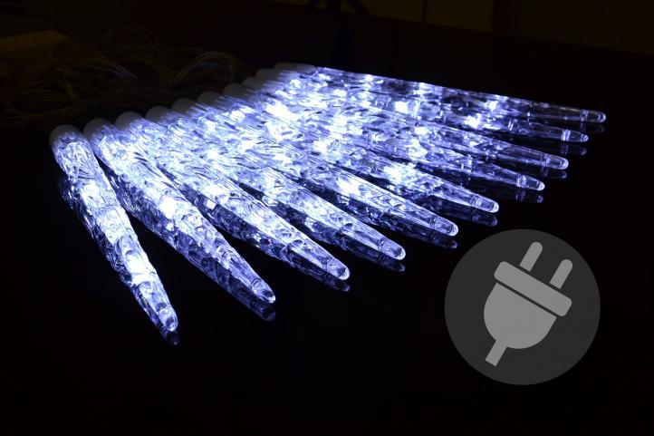 Lampki Dekoracyjne Sople Białe Ruchome 10 Led Zewnętrzne Programator