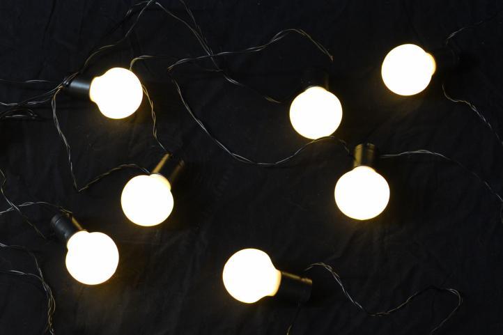 Lampki żaróweczki Dekoracyjne Do Domu Ogrodu Matowe 20 Led Ciepłe Białe żarówki