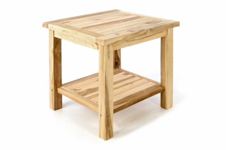 Stolik Ogrodowy Z Drewna Tekowego Szafka Nocna 50 X 50 X 50 Cm