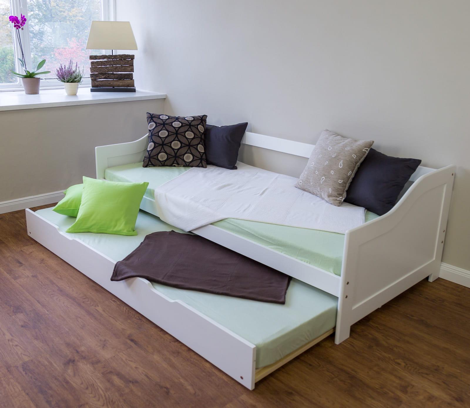 ko m odzie owe 90x200 cm rozk adane bia e sklep. Black Bedroom Furniture Sets. Home Design Ideas