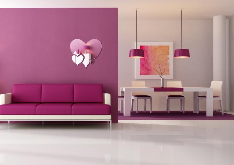 Dekoracyjne Lustro ścienne Heart