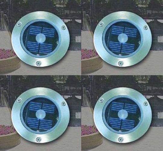 Lampa Solarna Najazdowa Stalowa Zestaw 4 Sztuk