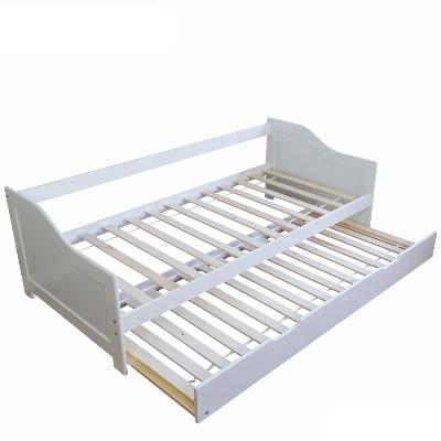 łóżko Młodzieżowe 90x200 Cm Rozkładane Białe