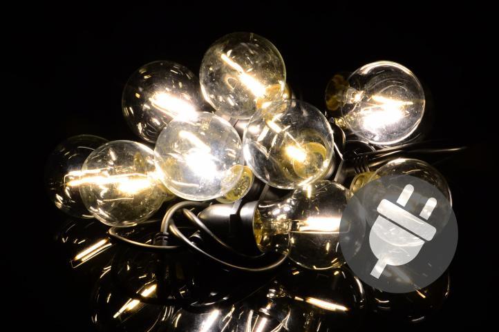 Lampki Ogrodowe 10 Led żarówki Białe