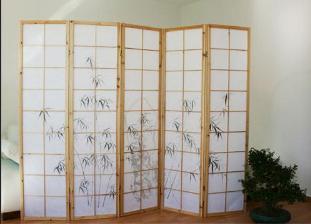 parawan drewniany 5 skrzyd owy jasny czarny bambus sklep internetowy. Black Bedroom Furniture Sets. Home Design Ideas