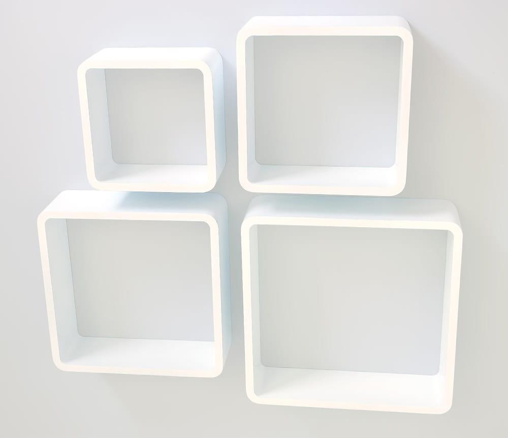 Półki Naścienne Zestaw 4 Szt Białe