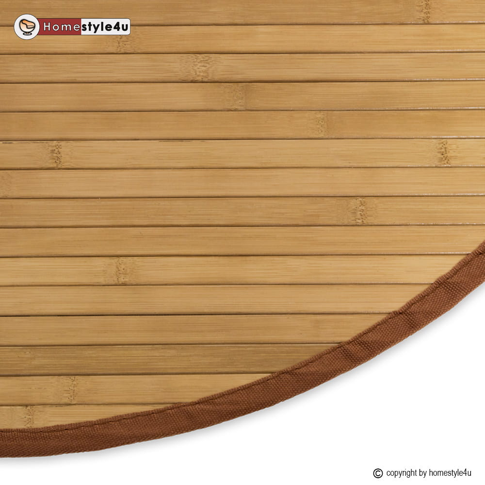 Dywan Bambusowy Mata Bambusowa Okrągła Brązowa 150 Cm