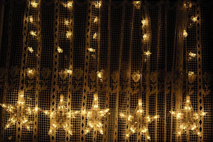 Lampki świąteczne 100 Led Kolor Ciepły Biały Gwiazdki