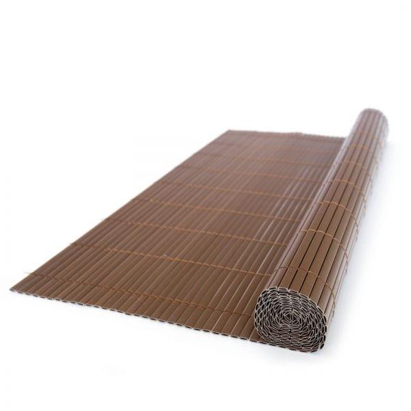 Ogrodzenie Imitujące Bambus 200x500 Cm Brązowe