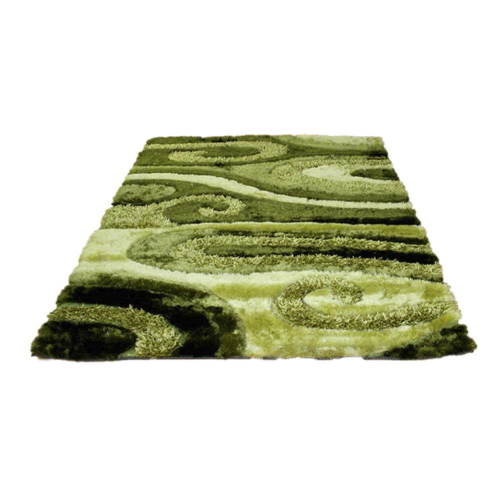 Dywan 80 X 150 Cm Zielone Fale