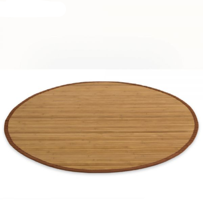 Rewelacyjny Mata bambusowa okrągła, dywanik bambusowy 90 cm brązowy - Sklep SB76