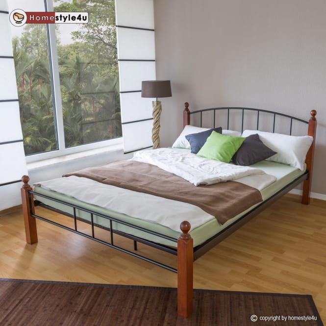 łóżko Metalowe Podwójne 140 X 200 Stelaż