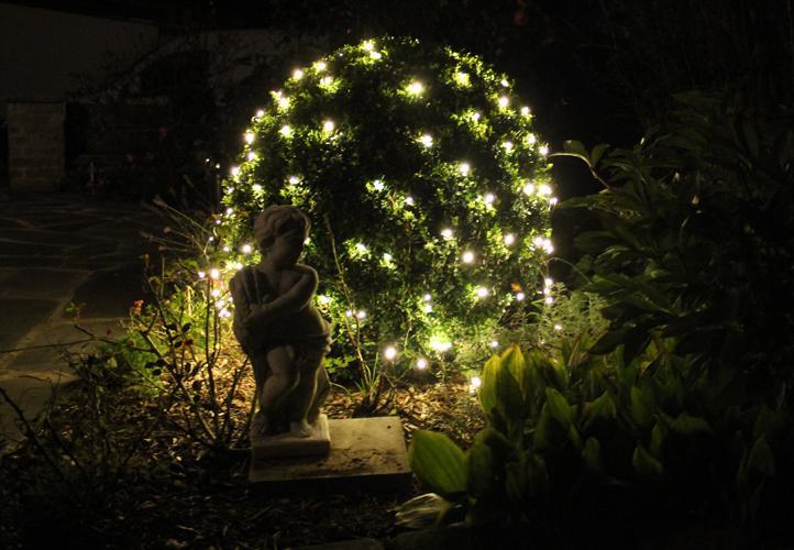 Oświetlenie Ogrodowe 128 Led Białe Ciepłe światło