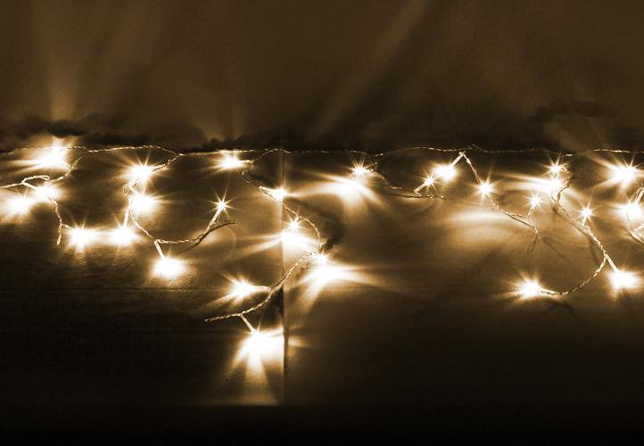 Lampki Dekoracyjne Ogrodowe 200 Led Ciepłe Białe Kurtyna
