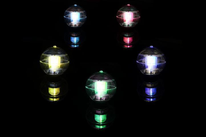 Lampa Solarna 3 Led W Kształcie Kuli Kolorowa