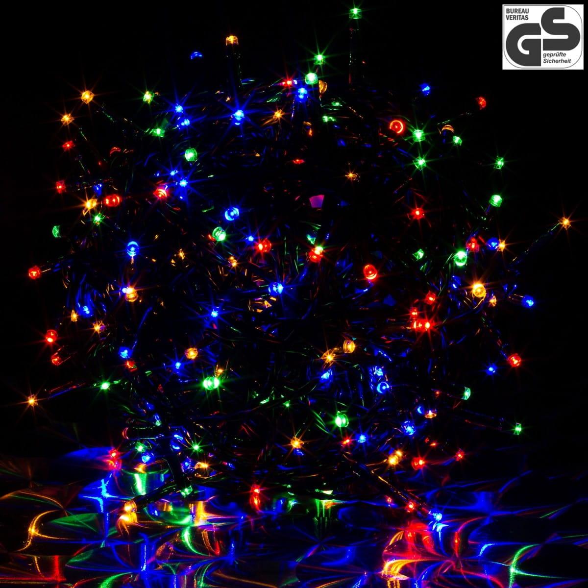Lampki 200 Led Kolorowe Zielony Kabel 20 M Na łańcuchu Joylight