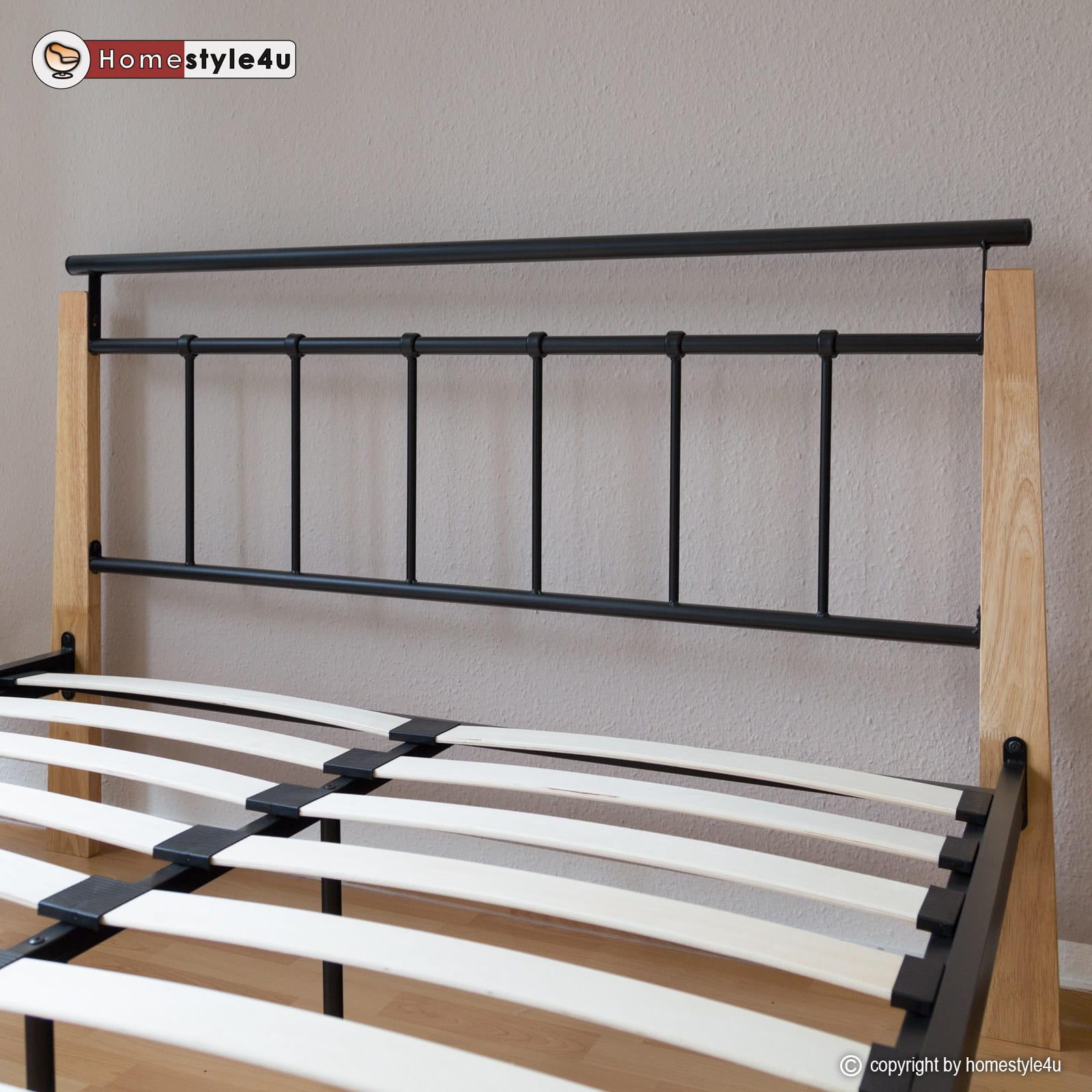 łóżko Metalowe Podwójne łóże 140x200cm Stelaż
