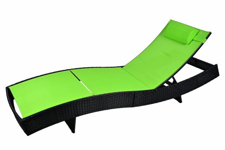 Leżak Rattanowy łóżko Ogrodowe