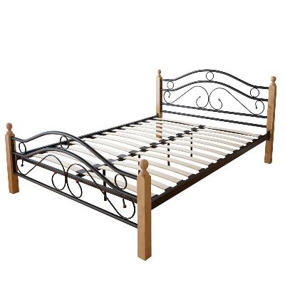łóżko Metalowe Podwójne 140x200 Cm Stelaż