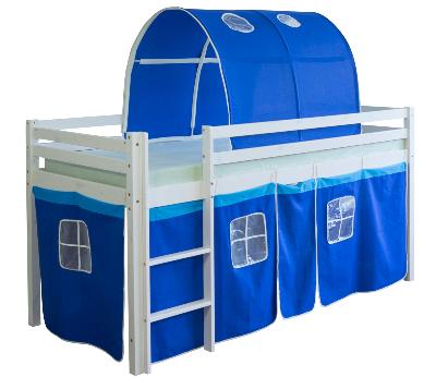 łóżko Piętrowe Niebieskie Z Tunelem